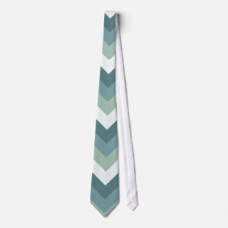 SeaGreen ZigZag pattern Tie