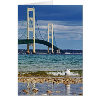 Seagull and Mackinac Bridge Card