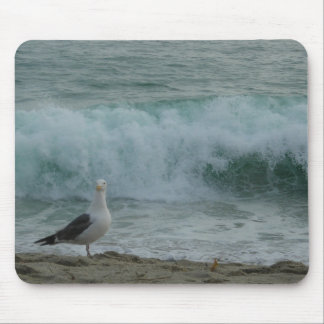 Seagull and Wave Mouse Pad