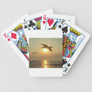 Seagull at Sunset Bicycle Playing Cards