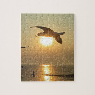 Seagull at Sunset Jigsaw Puzzle