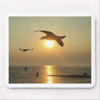 Seagull at Sunset Mouse Pad