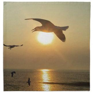 Seagull at Sunset Napkin