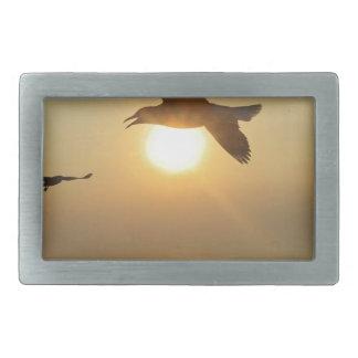 Seagull at Sunset Rectangular Belt Buckle
