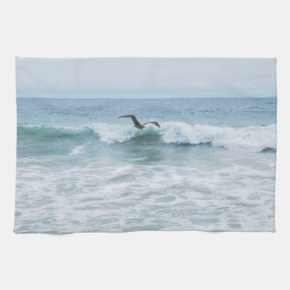 Seagull at the Beach in California Tea Towel