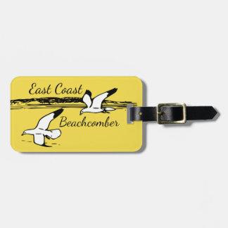 Seagull Beach East Coast Beachcomber luggage tag