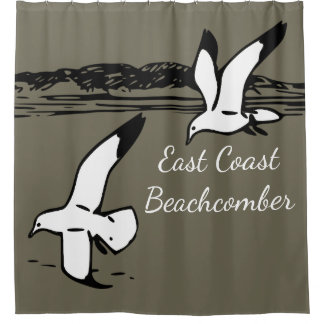 Seagull Beach EastCoast Beachcomber shower curtain
