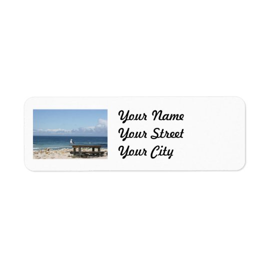Seagull by the Sea in California Return Address Label