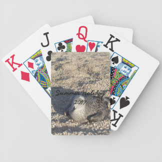 Seagull Enjoying The Sun Summer Photography Bicycle Playing Cards