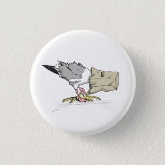 Seagull Fail Button   Funny Bird Illustration