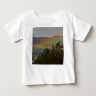 Seagull Flying past a Rainbow in Ardnamurchan Baby T-Shirt