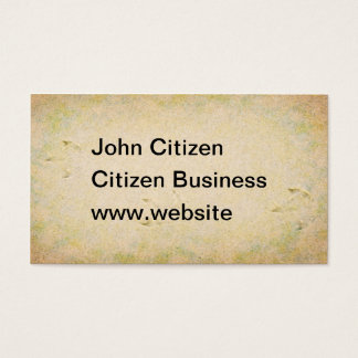 Seagull footprints in sand texture business card