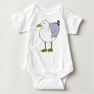 Seagull Illustration Baby Bodysuit