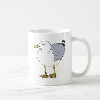 Seagull Illustration Coffee Mug