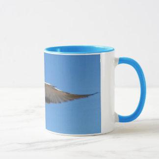 Seagull in flight mug