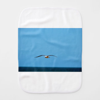 SEAGULL IN FLIGHT QUEENSLAND AUSTRALIA BURP CLOTH