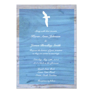 Seagull/Nautical Beach Wedding Invitation