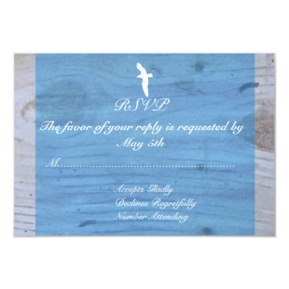 Seagull/Nautical Wedding RSVP Card