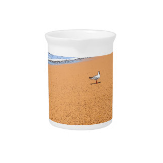 SEAGULL ON BEACH QUEENSLAND AUSTRALIA PITCHER