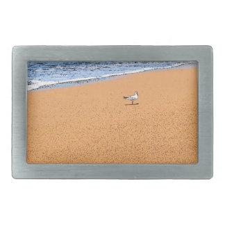 SEAGULL ON BEACH QUEENSLAND AUSTRALIA RECTANGULAR BELT BUCKLES