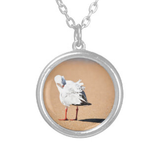 SEAGULL ON BEACH QUEENSLAND AUSTRALIA SILVER PLATED NECKLACE