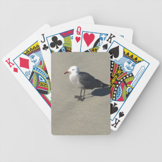 Seagull on Sandy Beach Bicycle Playing Cards