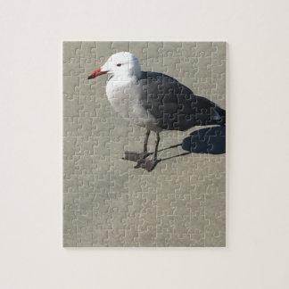 Seagull on Sandy Beach Jigsaw Puzzle