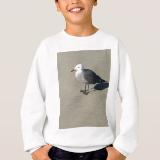 Seagull on Sandy Beach Sweatshirt