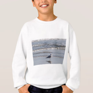 Seagull On The Beach at low tide on east coast Sweatshirt