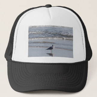 Seagull On The Beach at low tide on east coast Trucker Hat