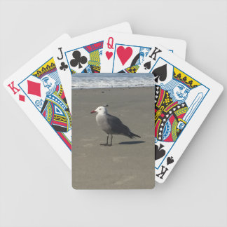 Seagull on the Beach Bicycle Playing Cards