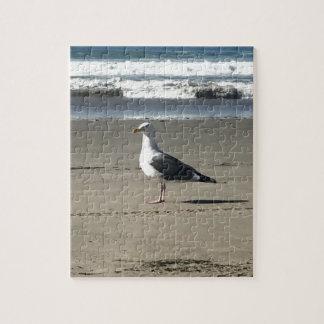 Seagull on the Beach Jigsaw Puzzle