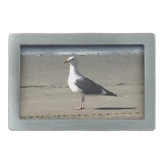 Seagull on the Beach Rectangular Belt Buckle