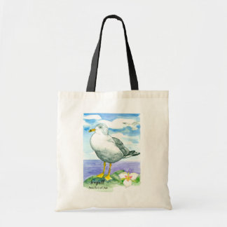 Seagull State Bird of Utah Sego Lily Tote Bag