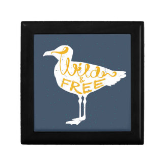 Seagull | Wild And Free Small Square Gift Box
