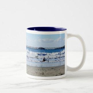 Seagulls and Pier Mug