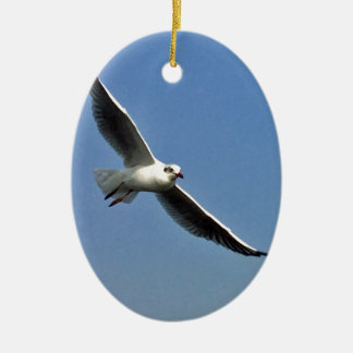 Seagulls are beautiful birds ceramic ornament