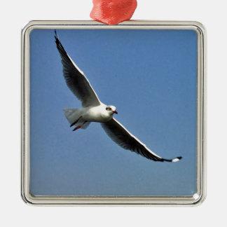 Seagulls are beautiful birds metal ornament