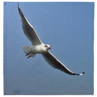 Seagulls are beautiful birds napkin