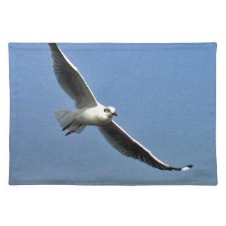Seagulls are beautiful birds placemat