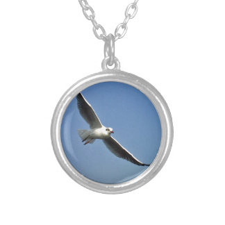 Seagulls are beautiful birds silver plated necklace