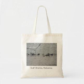 Seagulls at Gulf Shores, Alabama travel tote Budget Tote Bag