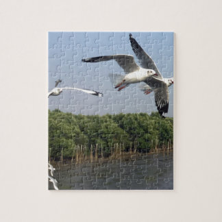 Seagulls at the beach jigsaw puzzle
