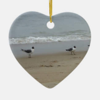 Seagulls Ceramic Ornament
