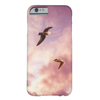 Seagulls flying in a sunset sky barely there iPhone 6 case