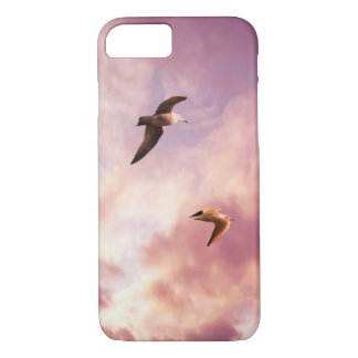 Seagulls flying in a sunset sky iPhone 8/7 case