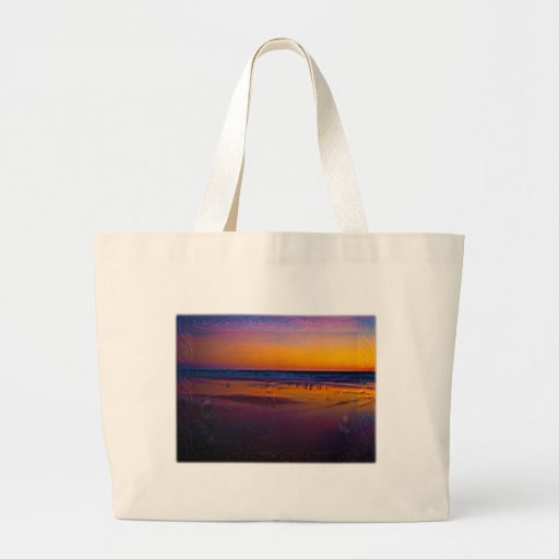Seagulls Frolicking & Flying During Dawn on Beach Tote Bag