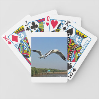 Seagulls in Flight Bicycle Playing Cards