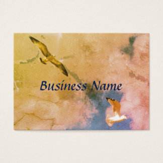 Seagulls in flight business card