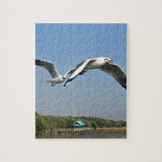 Seagulls in Flight Jigsaw Puzzle